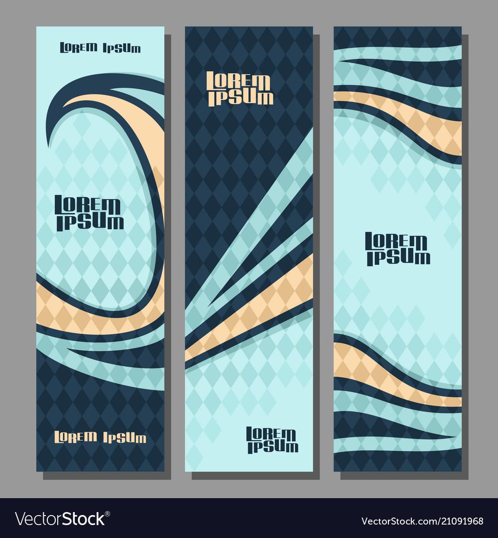 Vertical futuristic banners