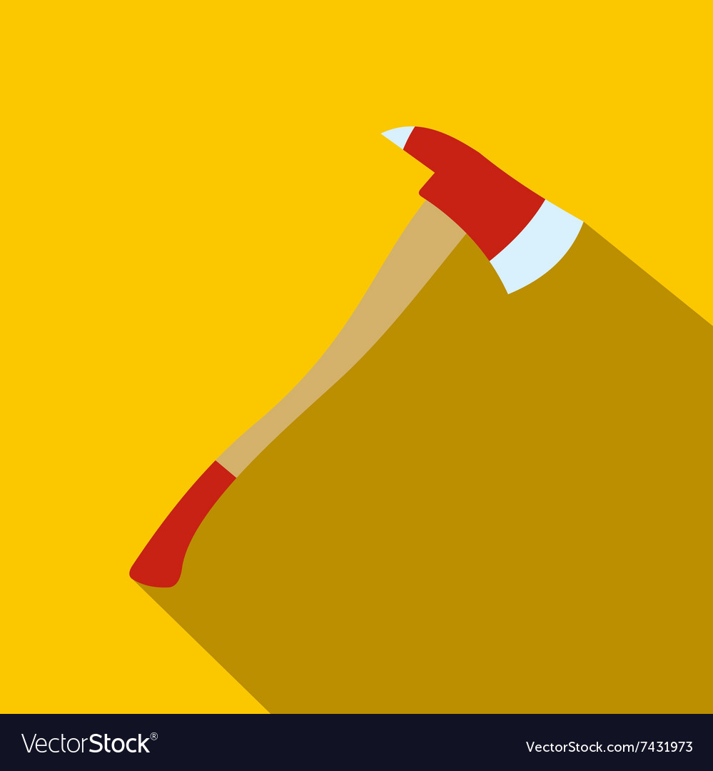 Axe for a firefighter flat icon vector image