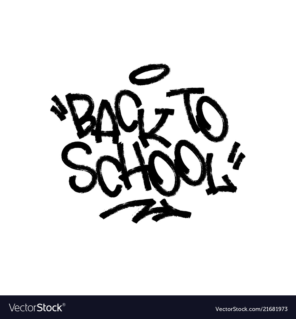 Back to school on white background