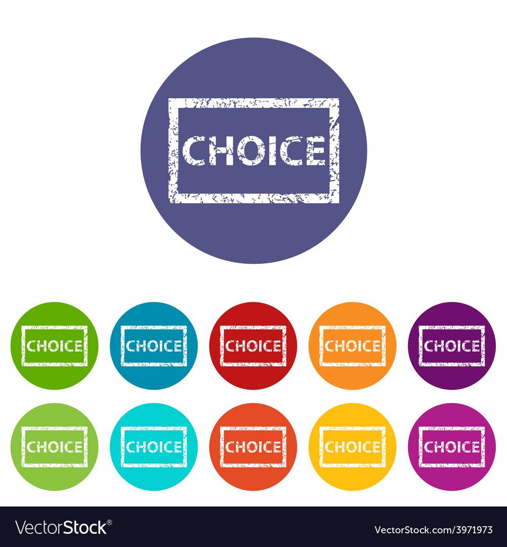 Choice flat icon
