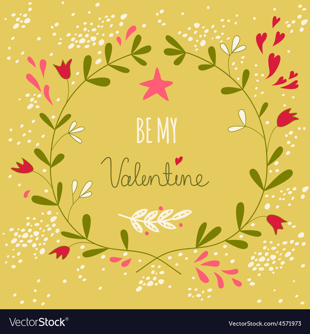 Greeting For The Valentines Day Or A Wedding Vector Image