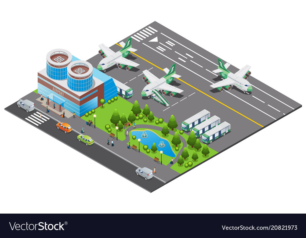 Isometric airport template