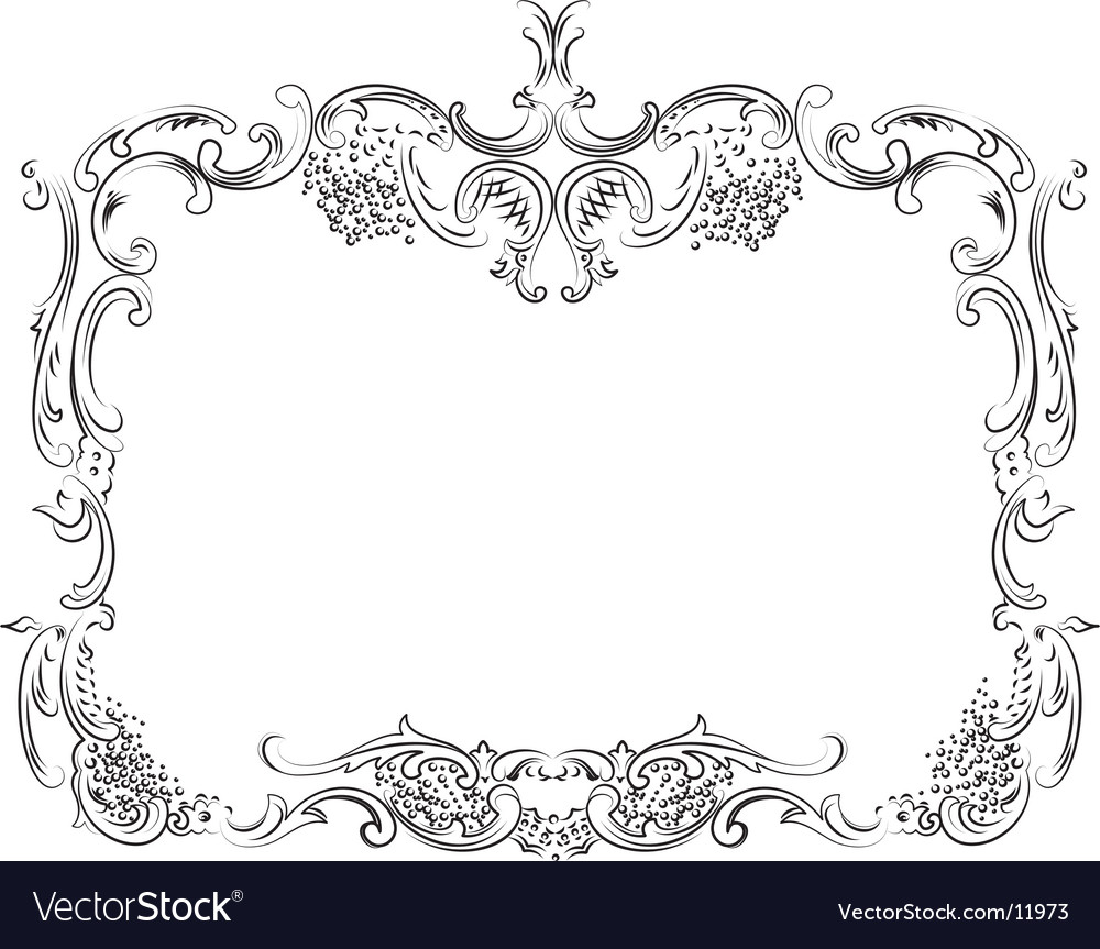 Royal ornate calligraphy frame