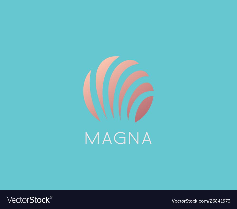 Shell sea logo design abstract modern minimal