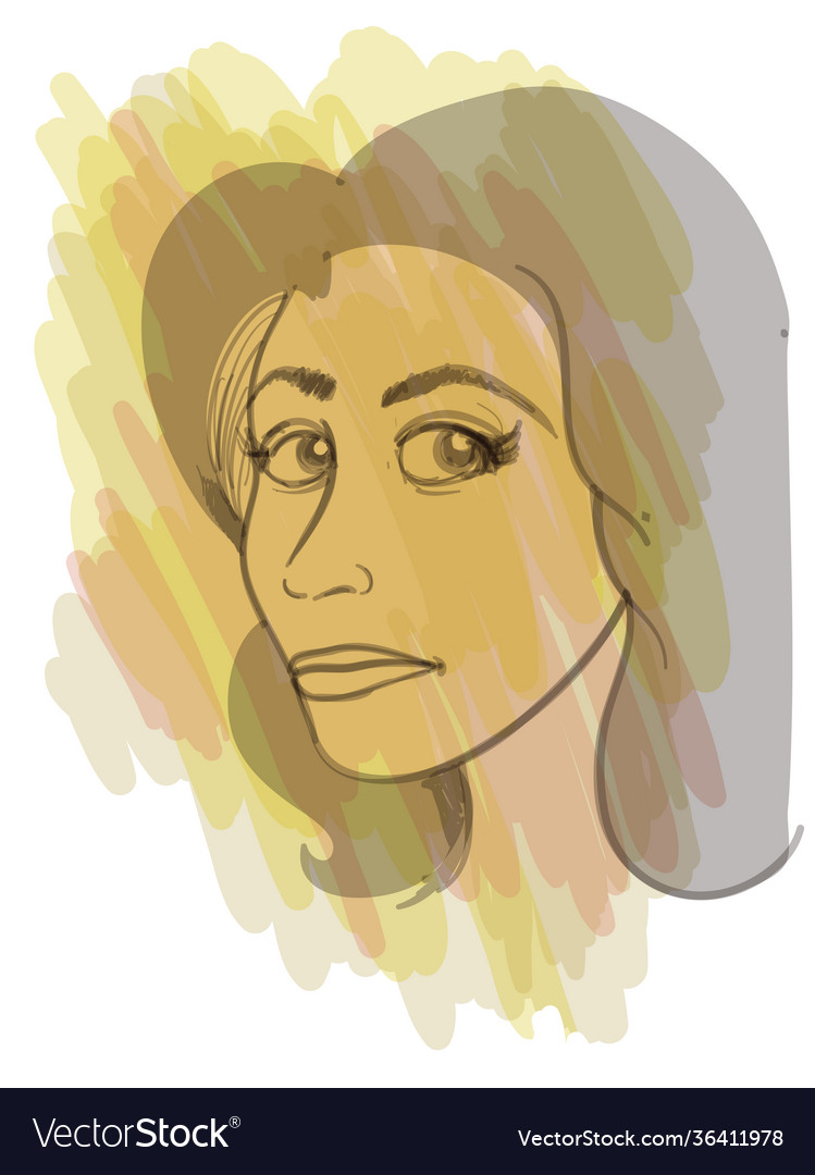 A young woman portrait in artistic style