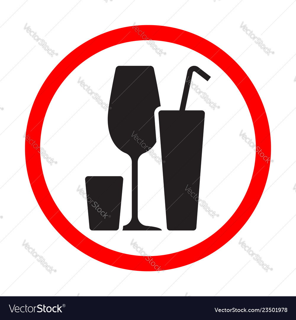 Alcohol cocktails black silhouette sign isolated