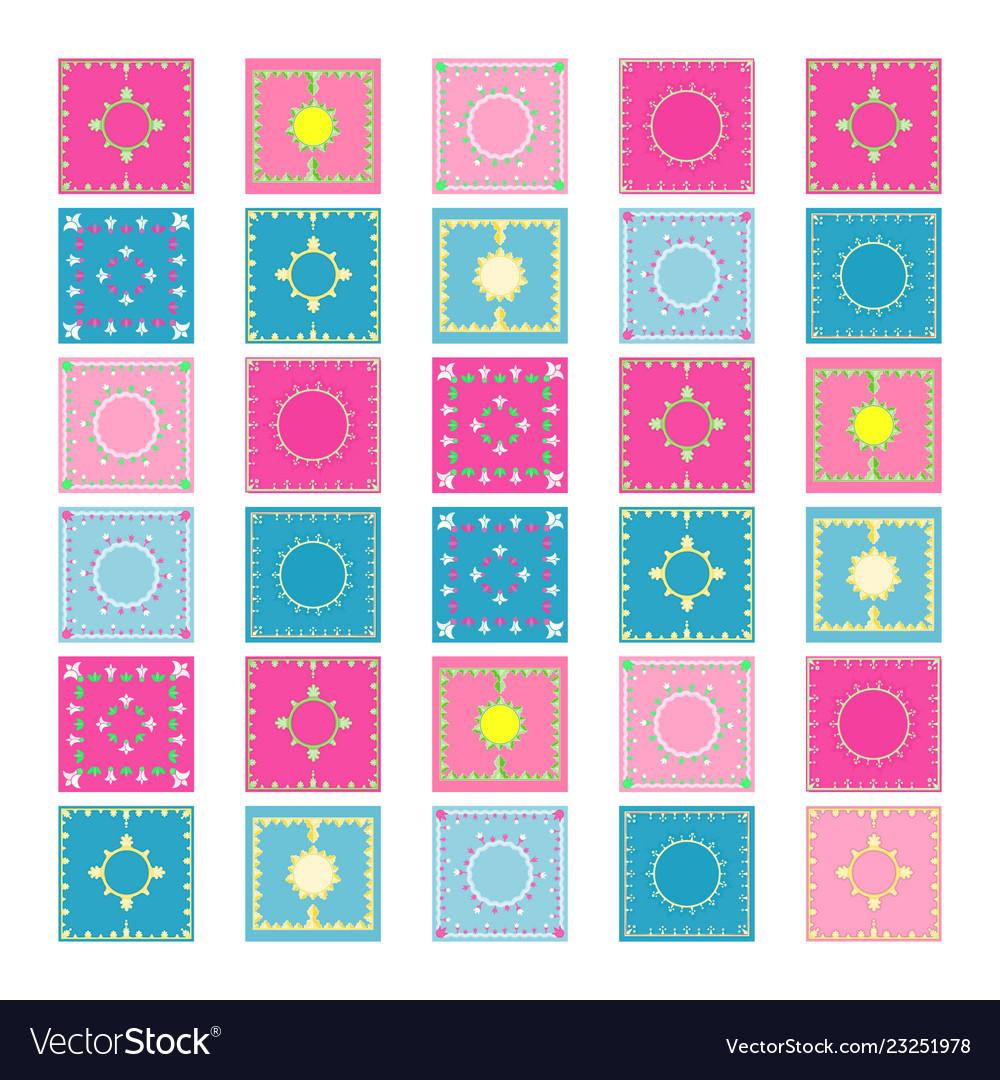 Authentic tiles set