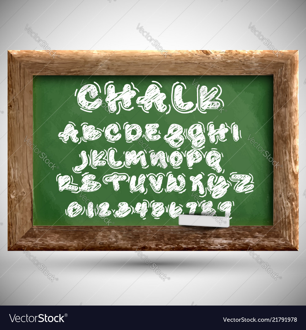 Chalk typeset on a chalkboard