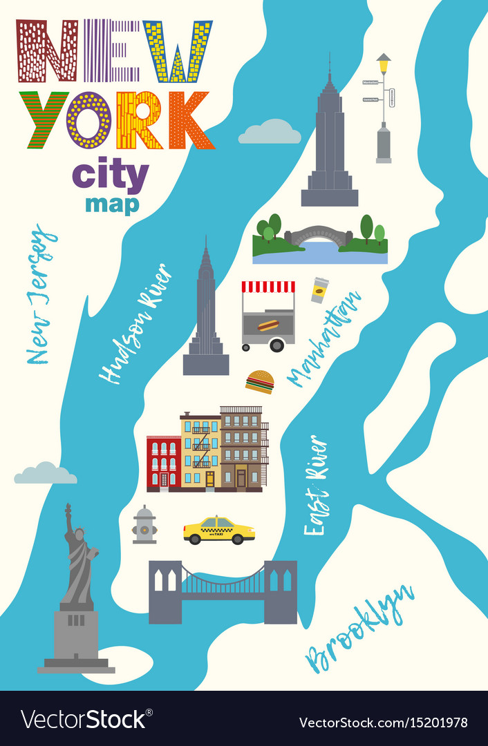 Free Map Of New York City.City Map Of Manhattan Of New York City