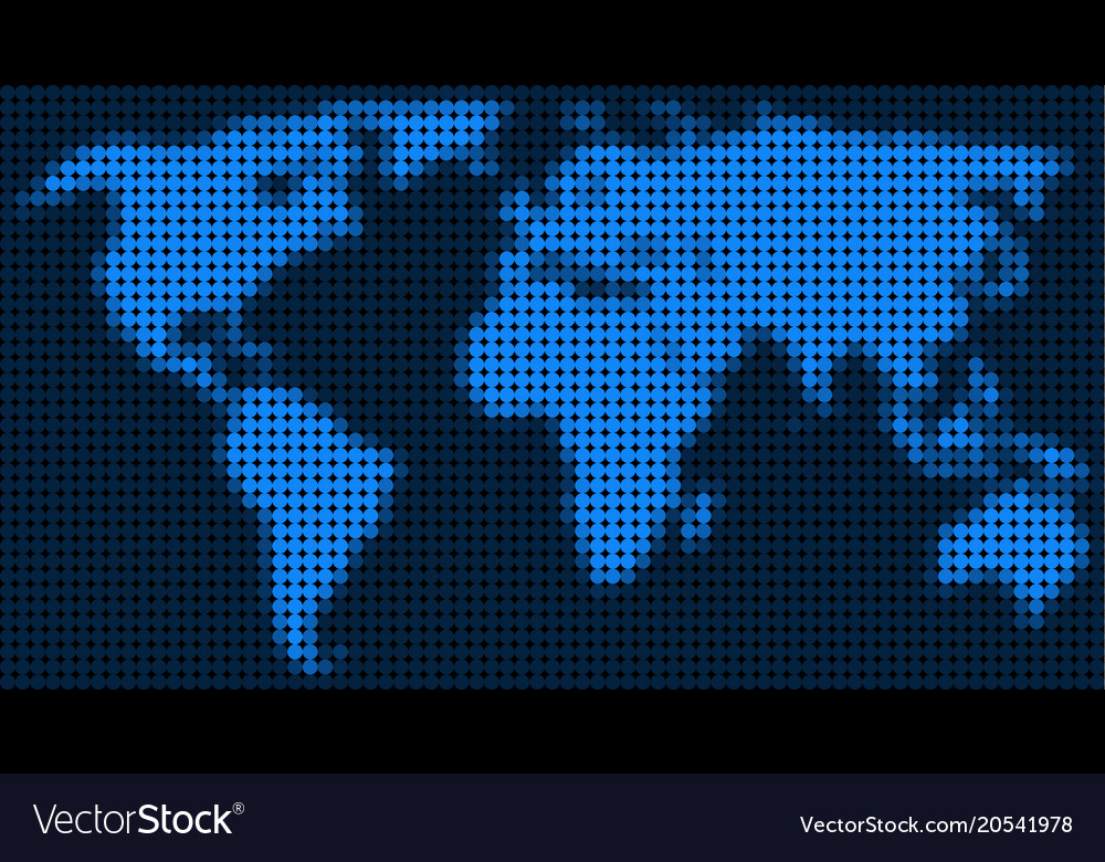 Dotted pixel world map royalty free vector image dotted pixel world map vector image gumiabroncs Image collections