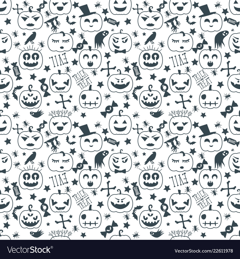 Halloween background seamless pattern design