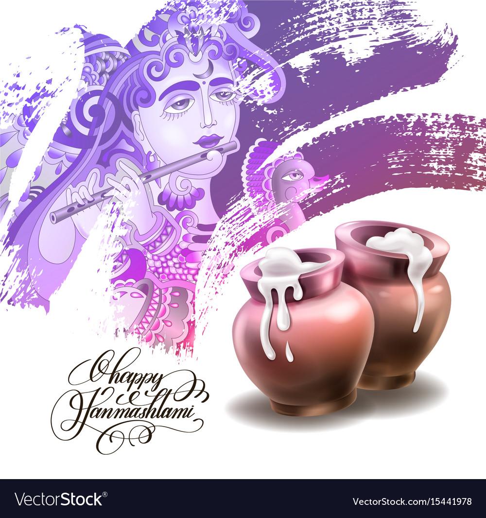 Happy janmashtami festival artwork design