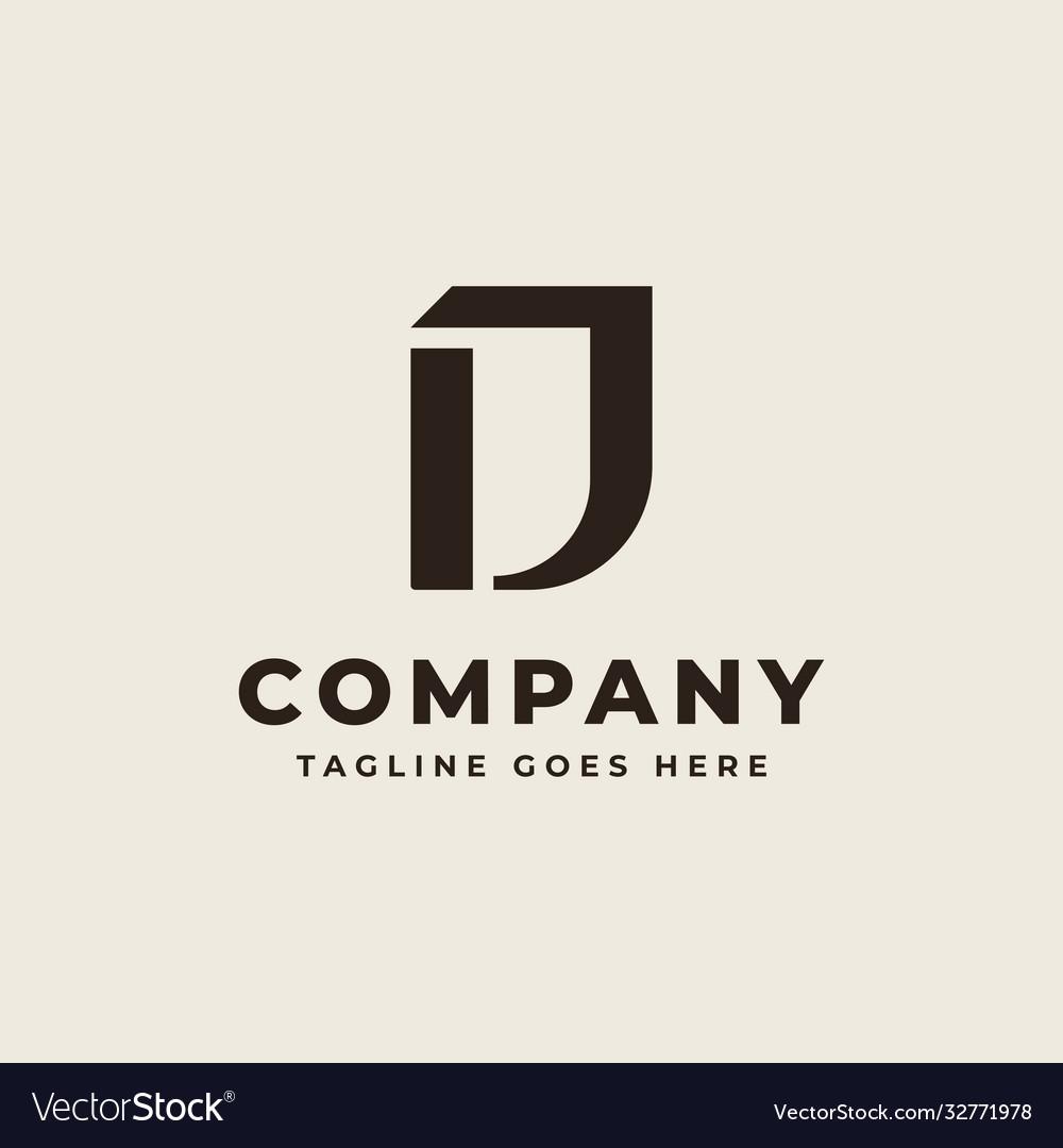 Initial d monogram logo design