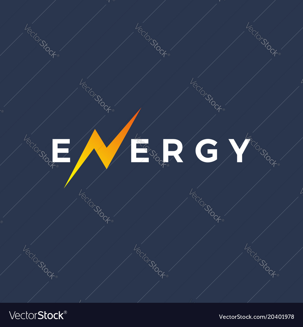 Letter n energy logo icon design template elements vector image