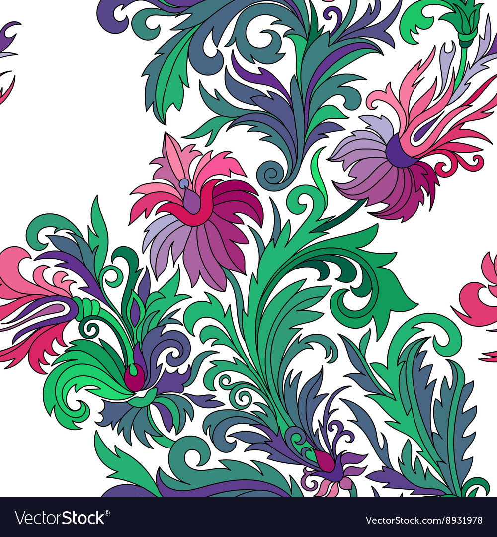 Seamless pattern Hand drawn doodle style