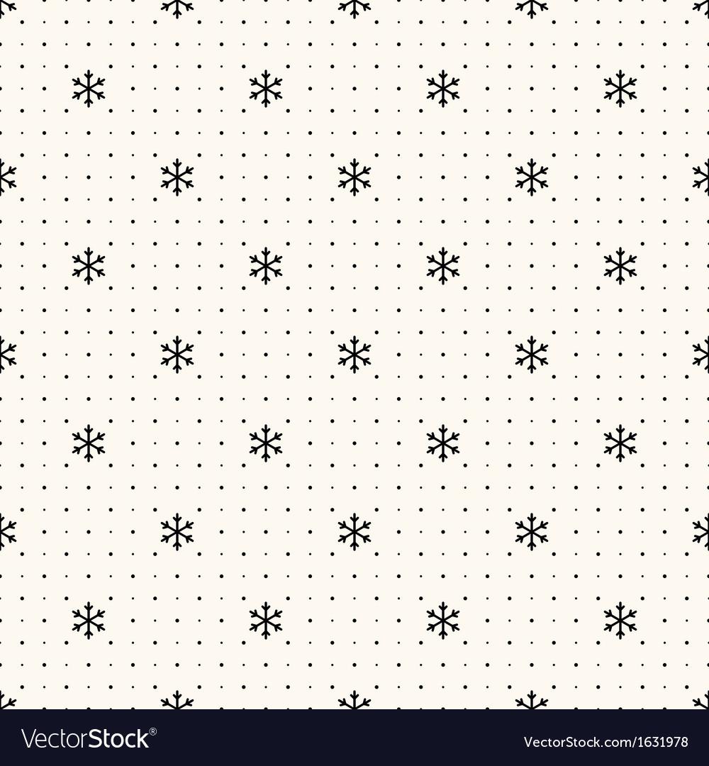 Seamless winter retro pattern