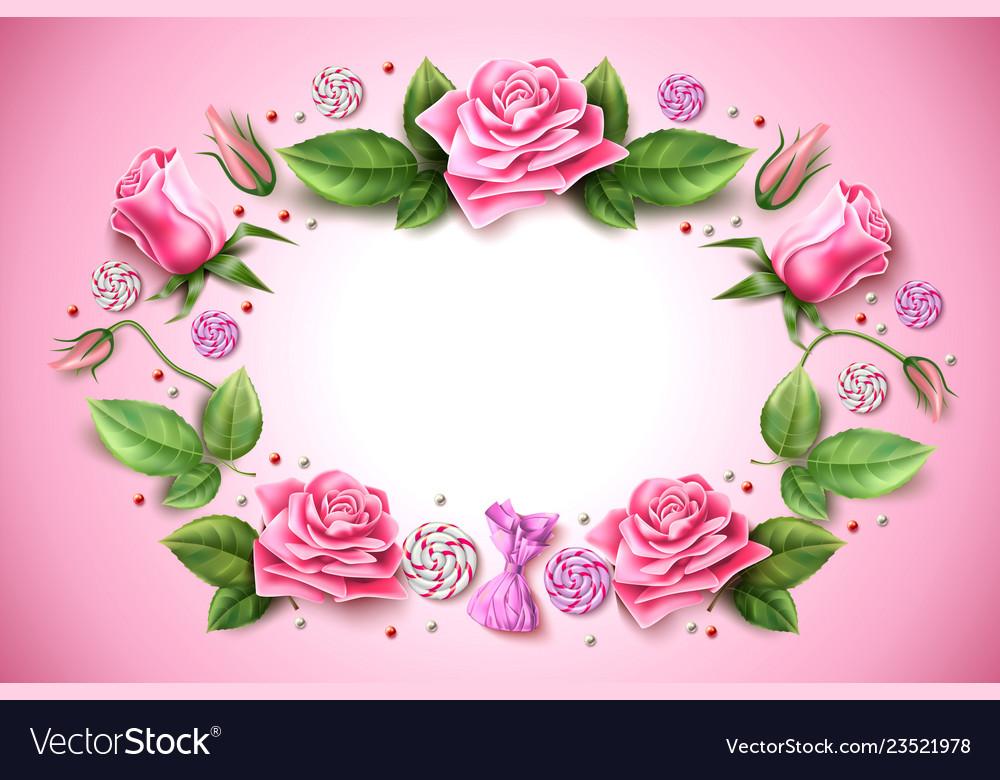 Tulip Rose Peony Flower On Pink Royalty