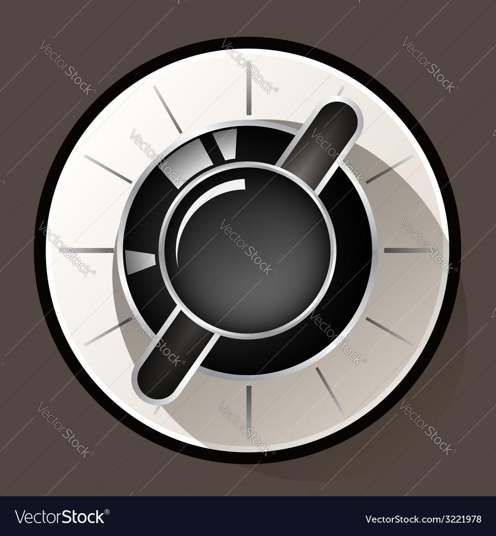 Volume settings sound control knob