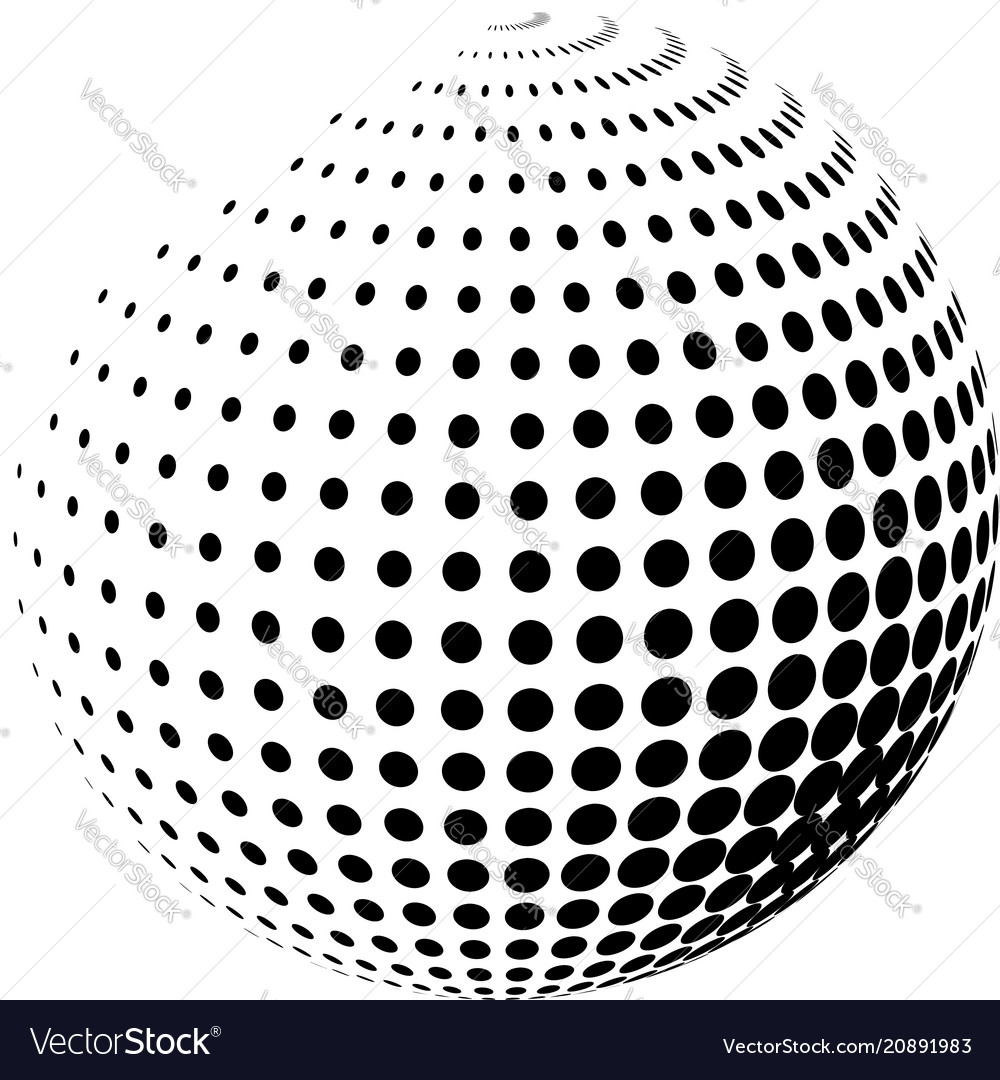 Abstract globe with halftone