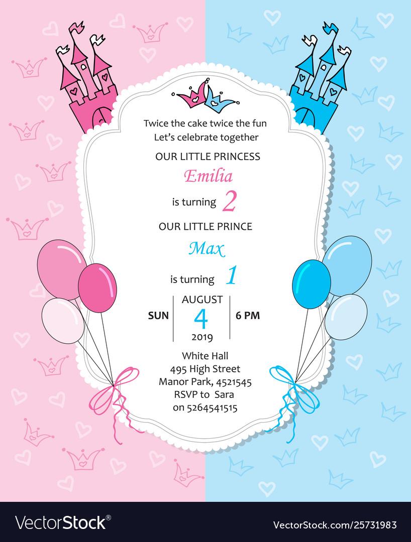 Bagirl And Baboy Royal Birthday Invitation
