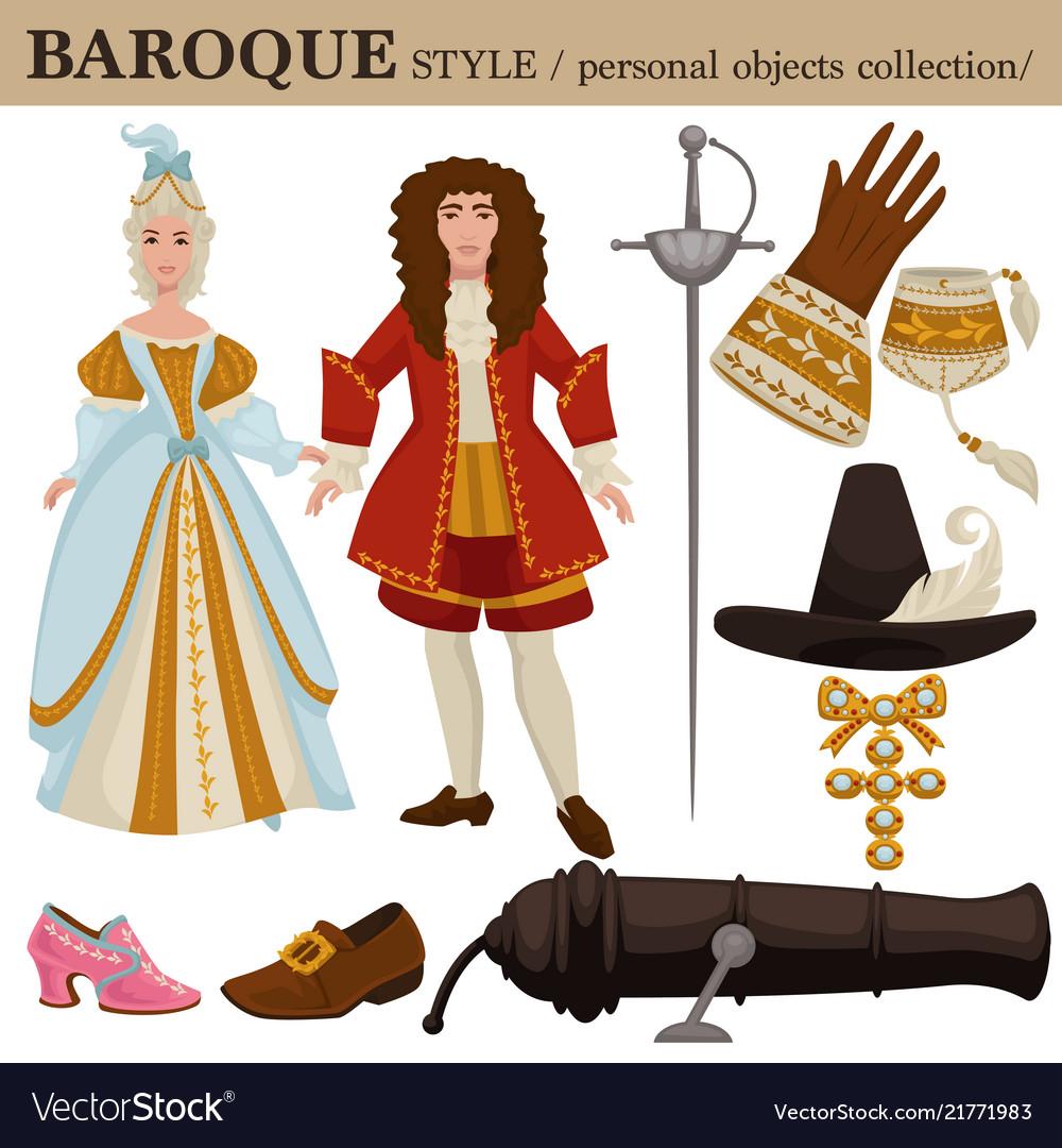 Baroque or 17 century european old retro fashion
