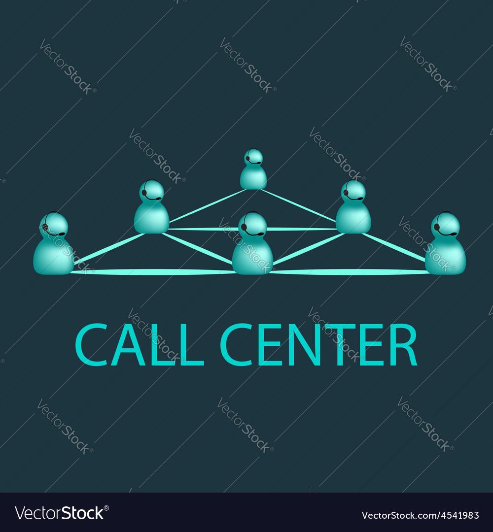 Call center emblem support logo design