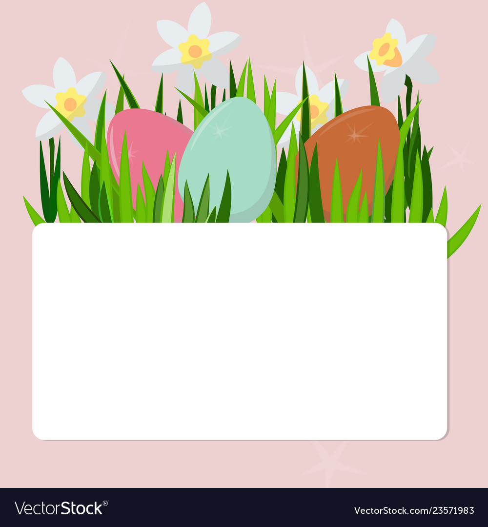 Easter eggs in the grass