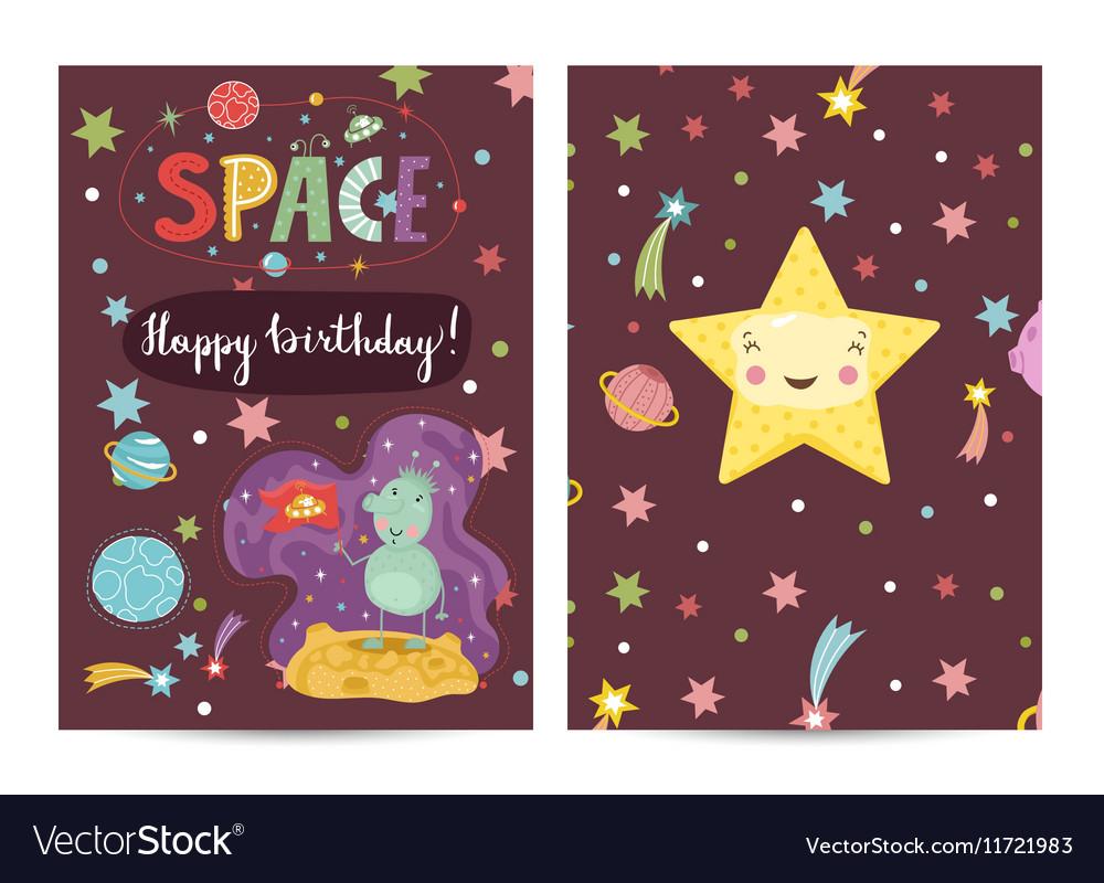 Happy Birthday Cartoon Greeting Card