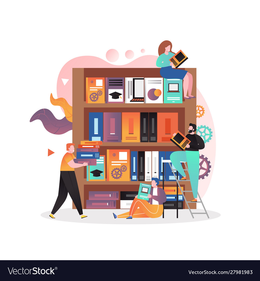 Library concept for web banner website