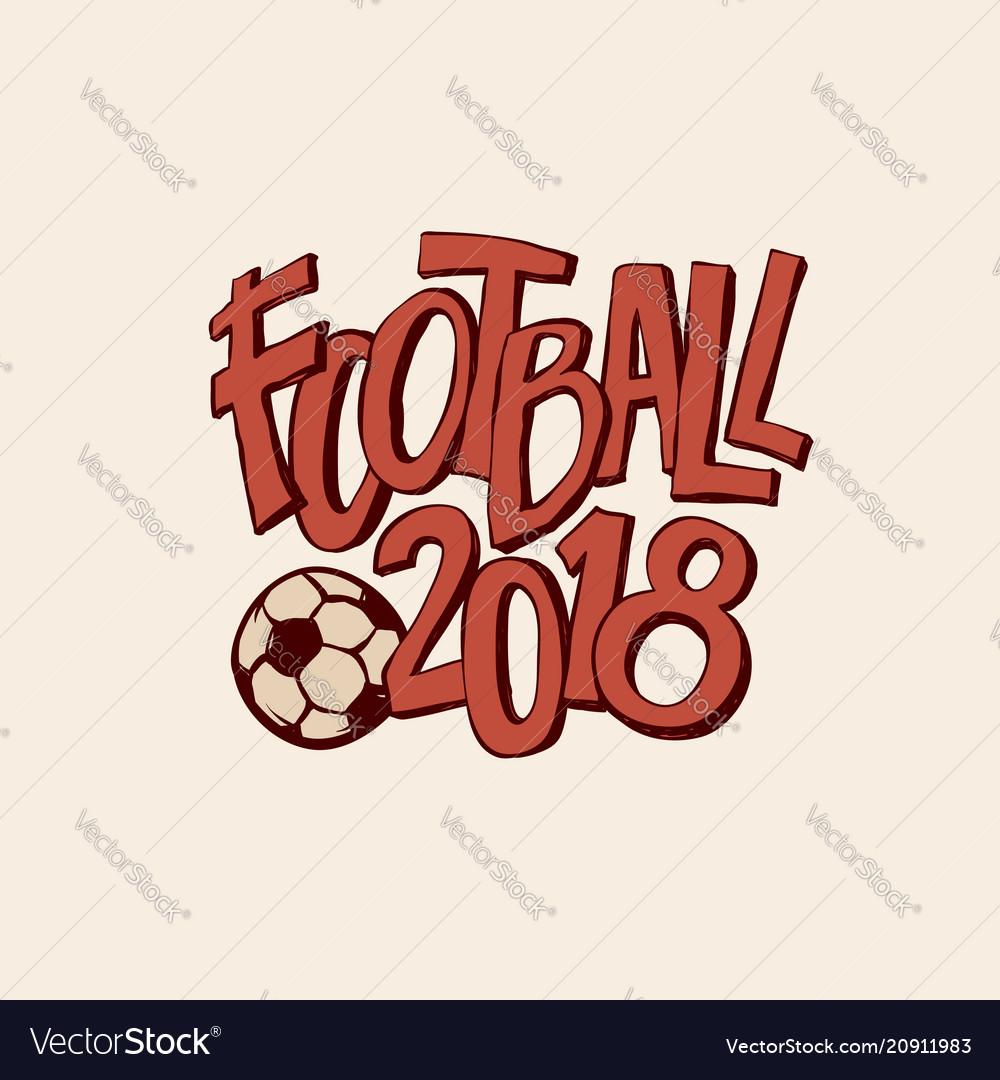 Retro football art with ball championship