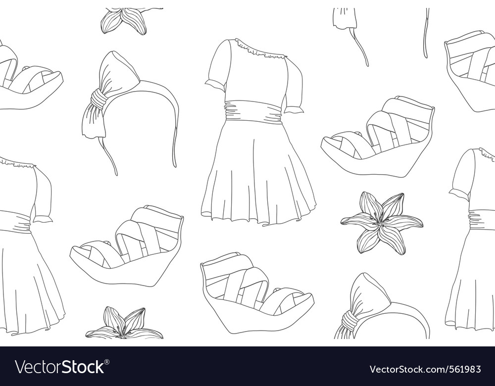 Seamless cute fashion pattern