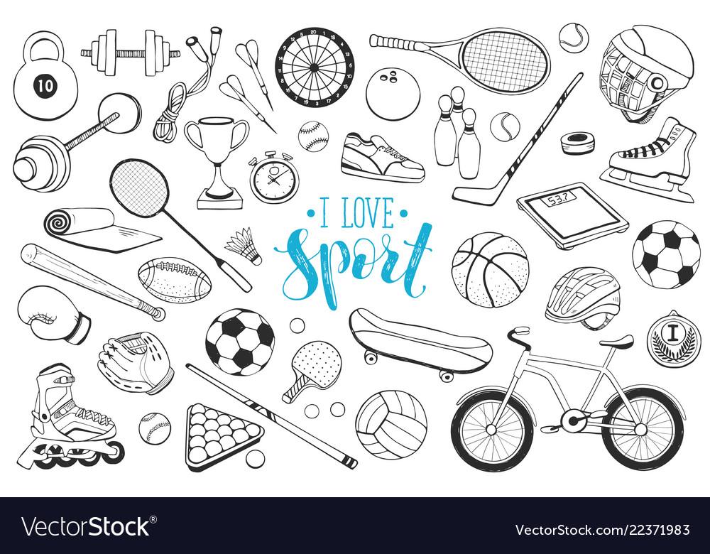 Sport equipment sketches