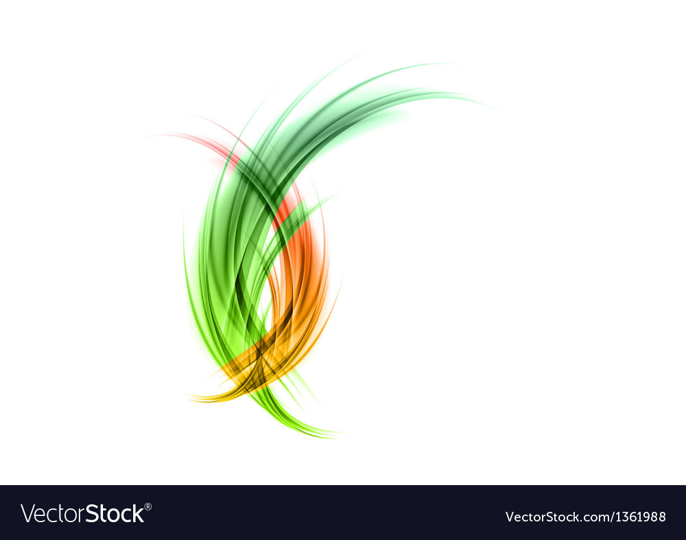 Abstract smoke green red matted