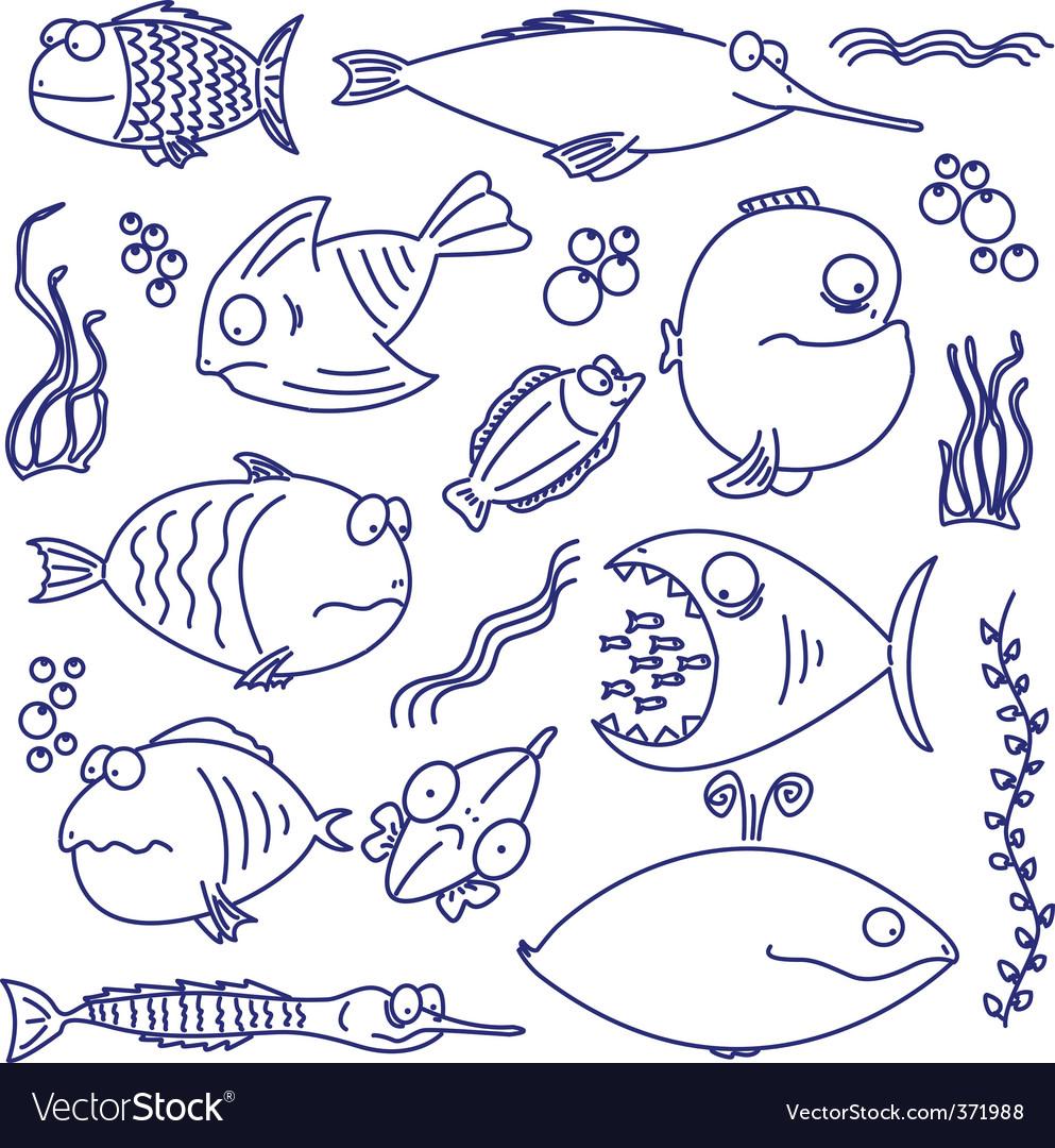 Cartoon comic fish
