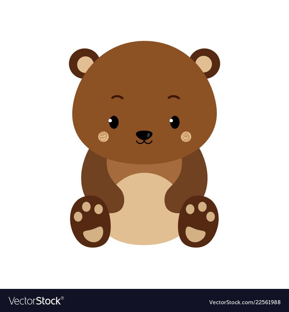 Cute cartoon bear backgrounds flat design