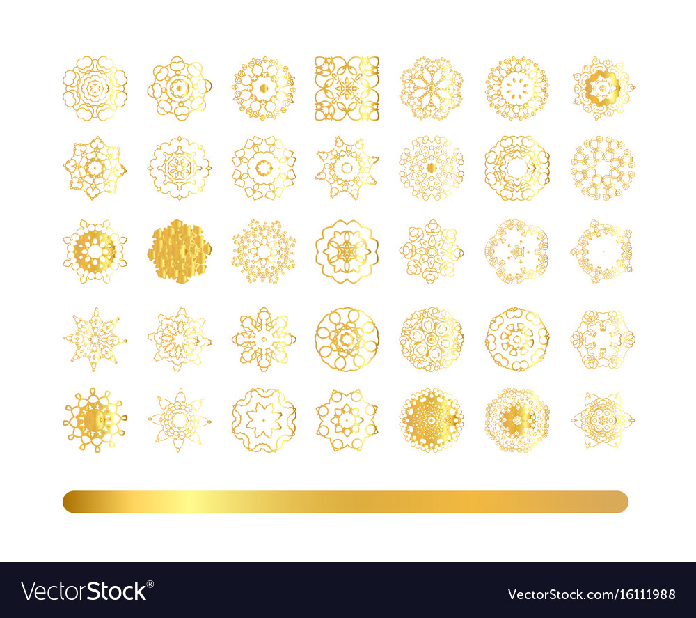 Hand drawn ethnic circular beige ornament
