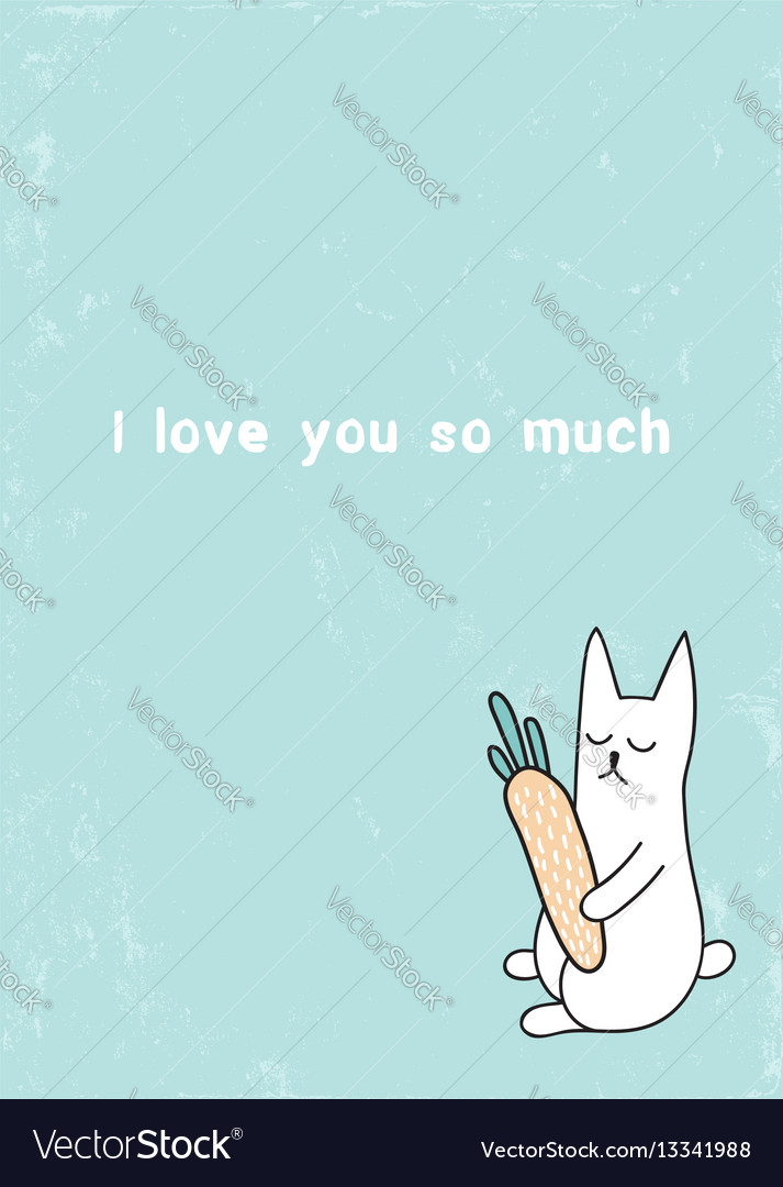 Ilysm rabbit vector image