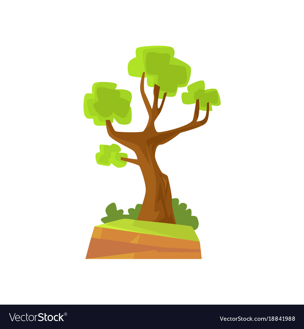 Landscape scene with forest or park tree vector image