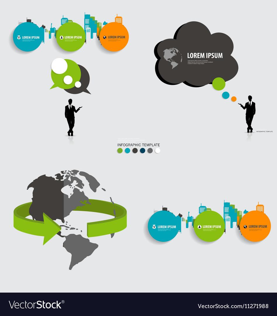 Modern infographics template style Bubble speech