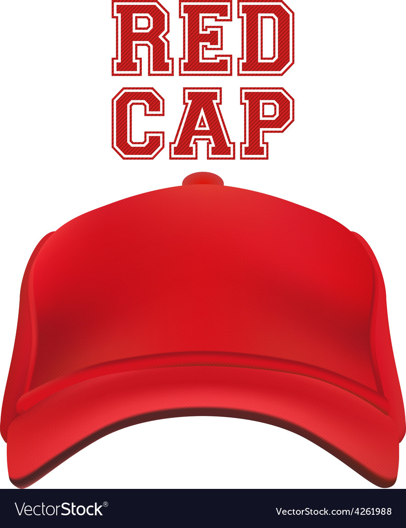 Red Cap isolated on white