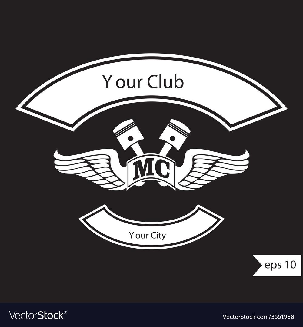 Vintage motorcycle club design elements