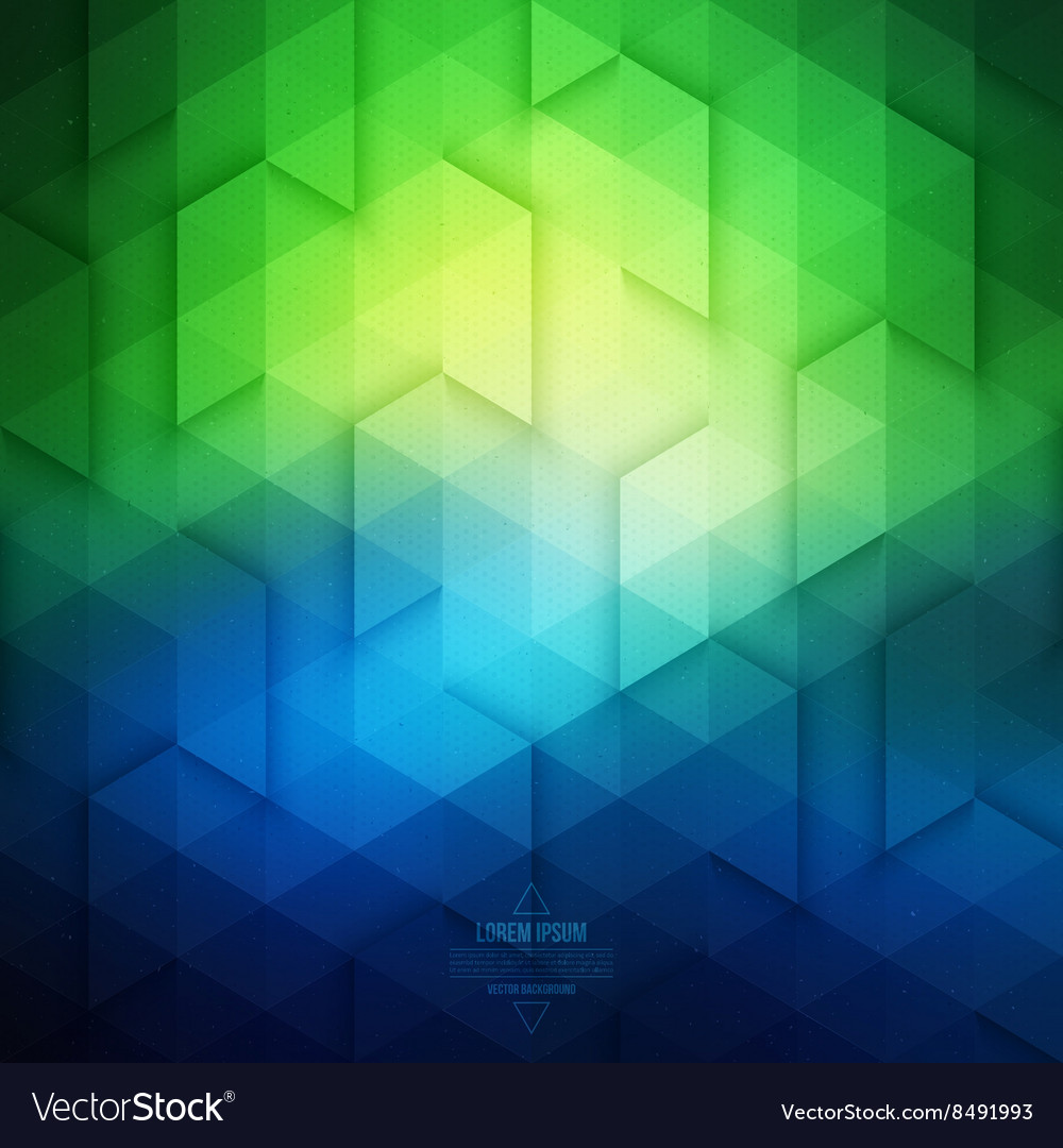 Abstract Geometric Technological Blue And Green