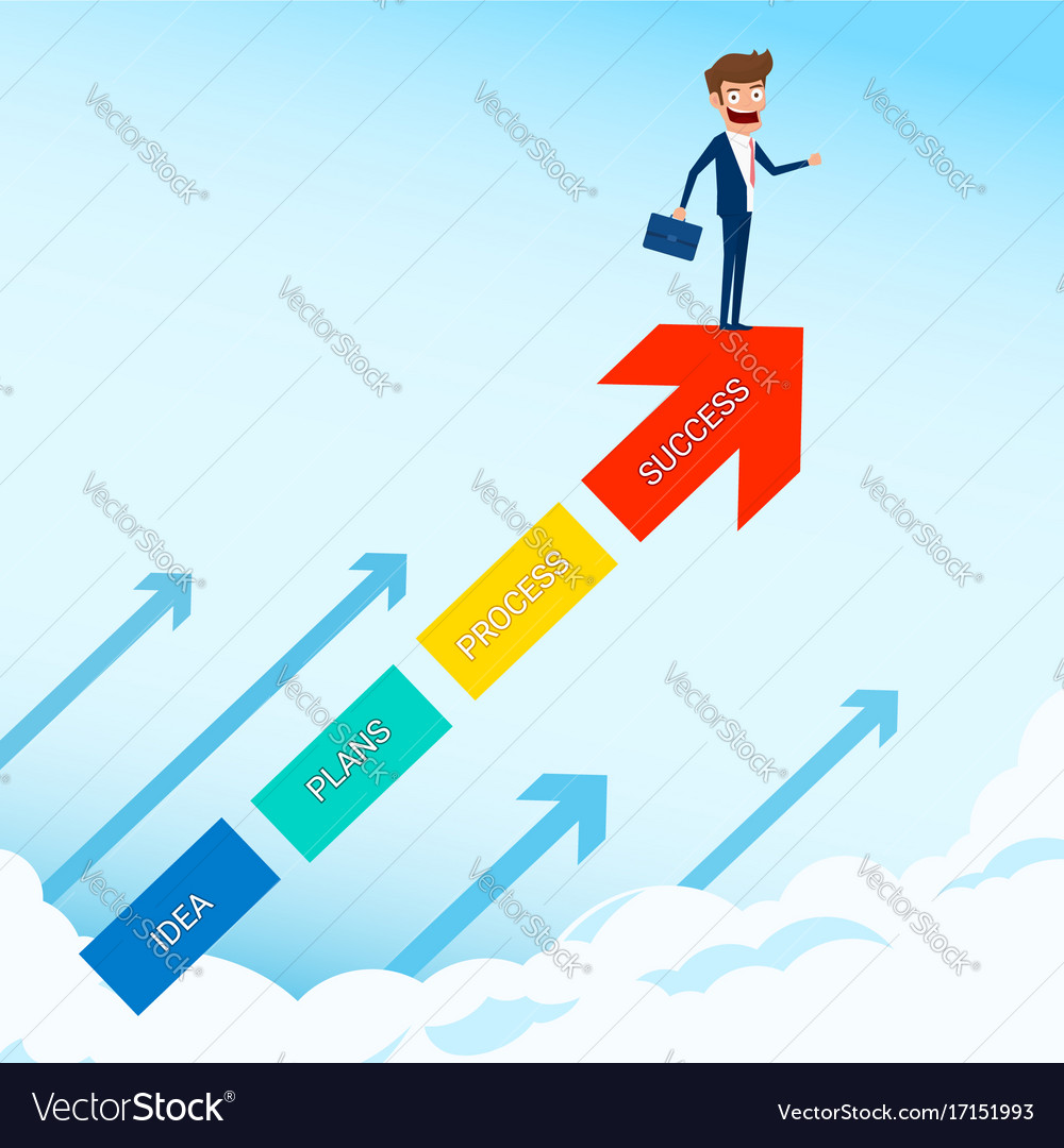 Businessman Stand On Arrow Growth Graph Royalty Free Vector The power of the arrow the stand arrows are made of an ancient meteorite, but no one actually knows where that meteorite. businessman stand on arrow growth graph royalty free vector
