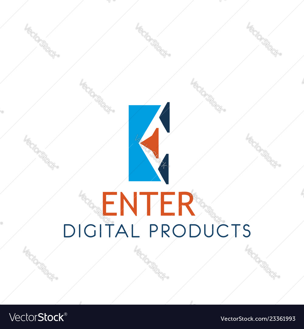 Digital products icon for web technology company