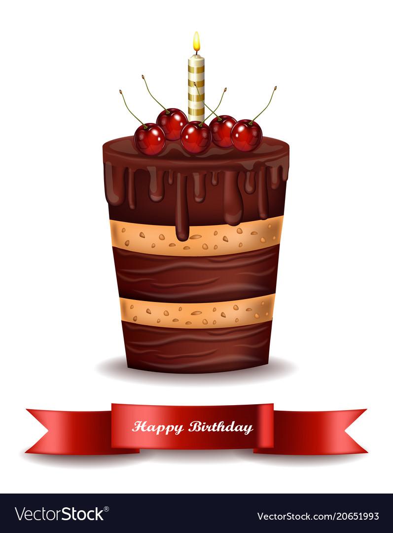 Happy brithday cake chocolate cake with