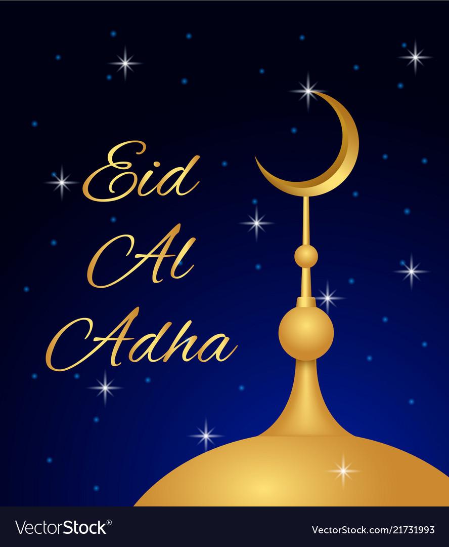Islam eid al adha concept background realistic