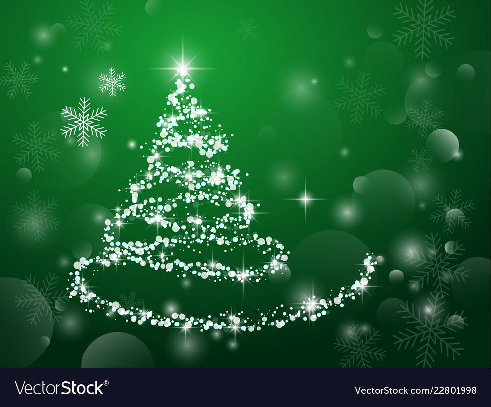 Abstract light green christmas tree on dark