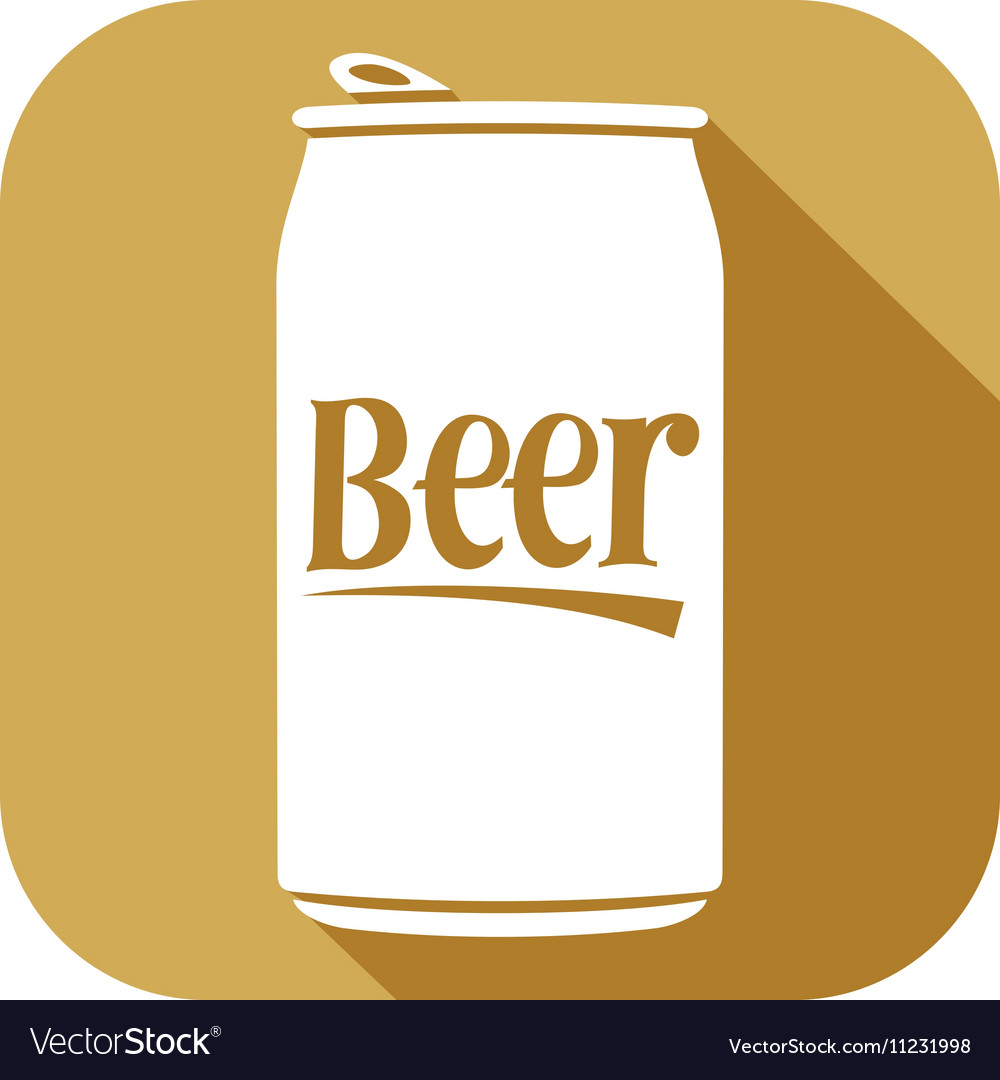Beer Can Icon vector image