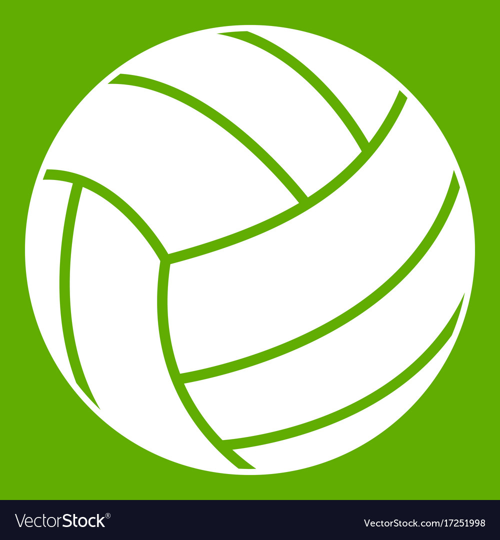 Black volleyball ball icon green