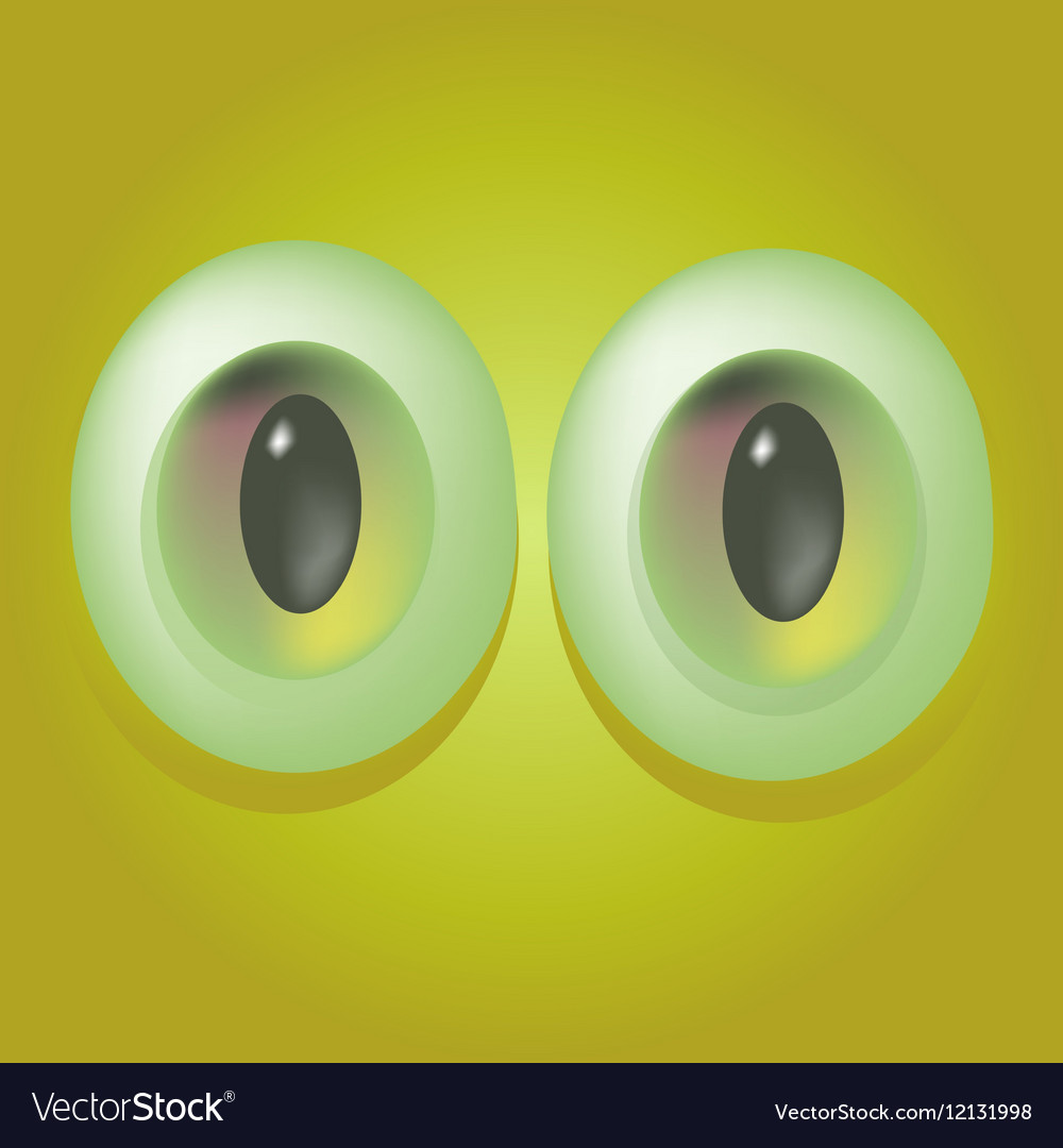 Cartoon monster eyes
